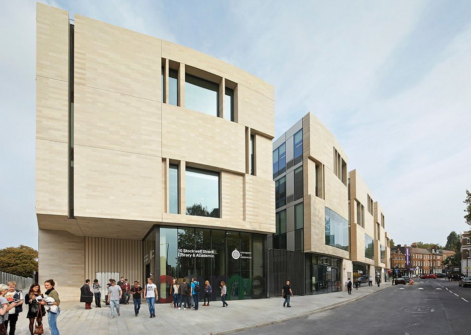 University of Greenwich Stockwell Street building by Heneghan Peng Architects.
