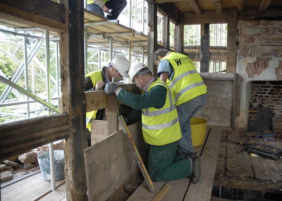 The project took five years, with the workers on site having to learn new skills.