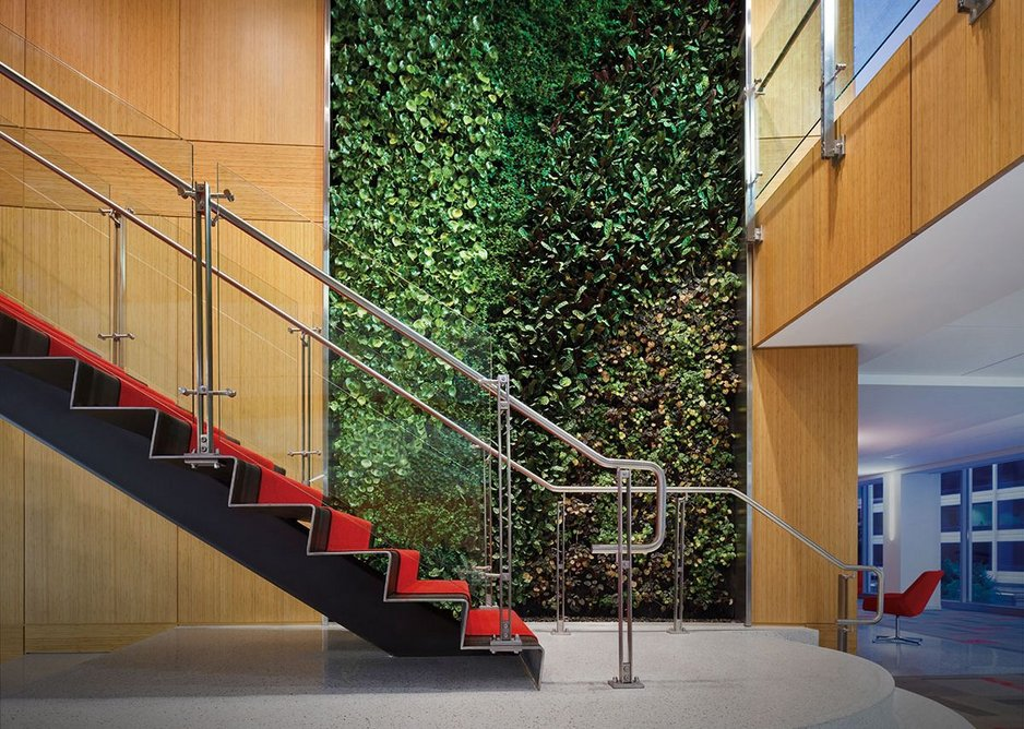 Ferric railing system at Squire Patton Boggs law firm, Washington DC. Architect Lehman Smith + McLeish.