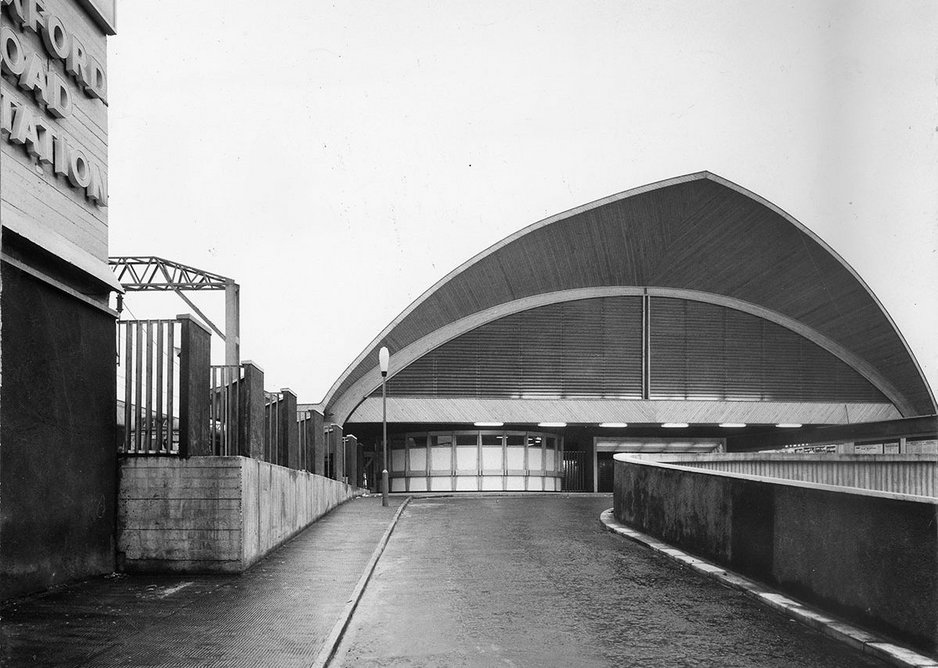 As a British Rail architect Clendinning designed Manchester Oxford road station with its conical-section timber roofs. It is now a listed building.