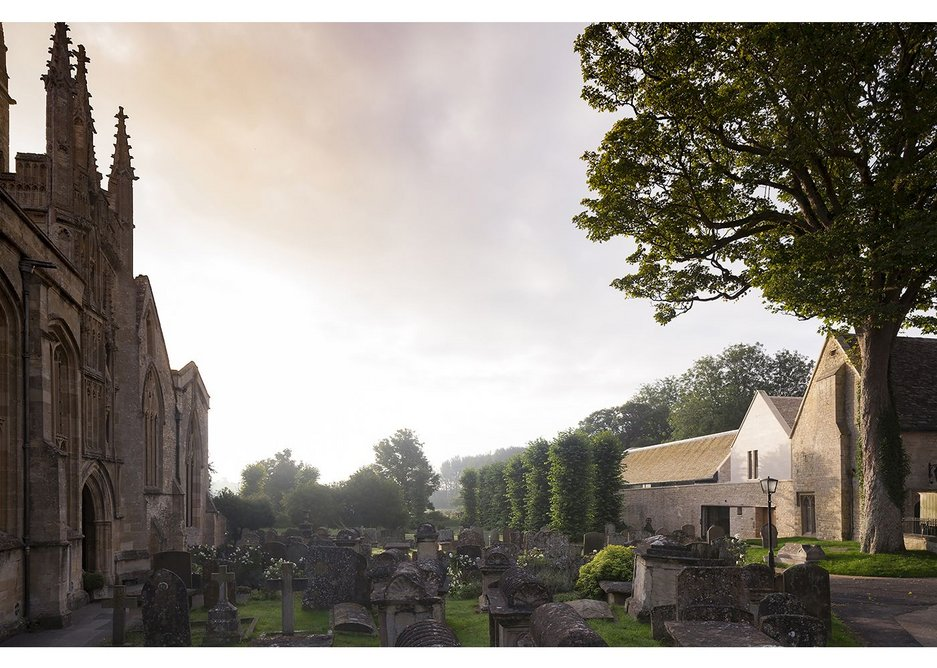 The precious setting of the churchyard in Burford meant that every move on the next centre had to be carefully considered.