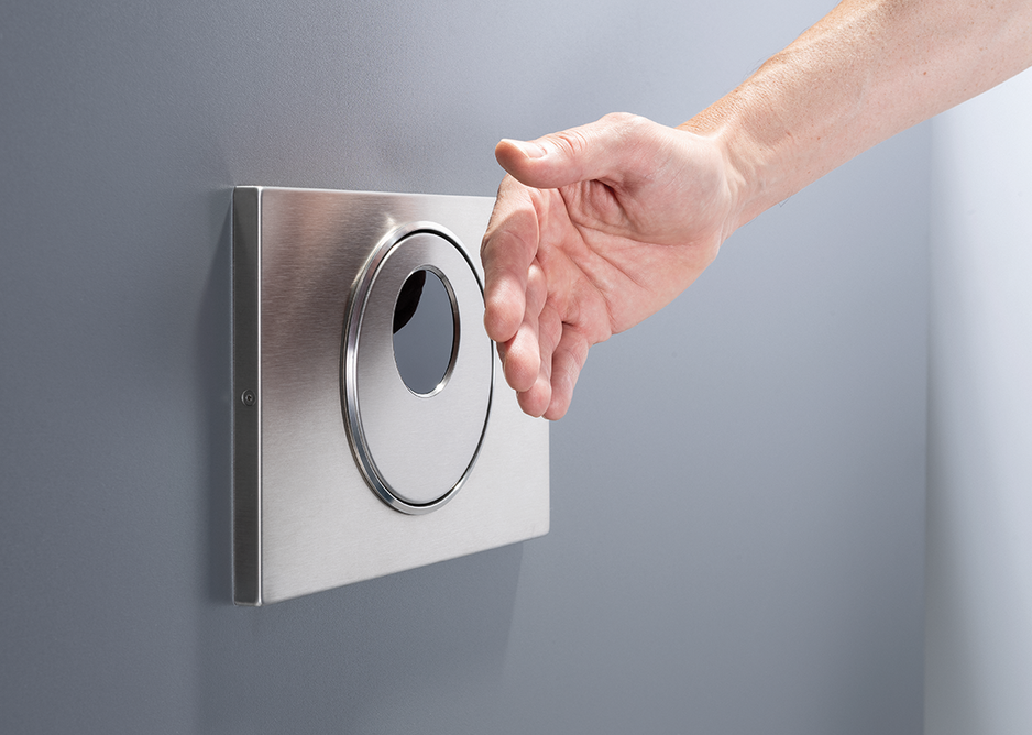 Geberit Sigma10 touch-free flush plates minimise germ and bacteria transference.