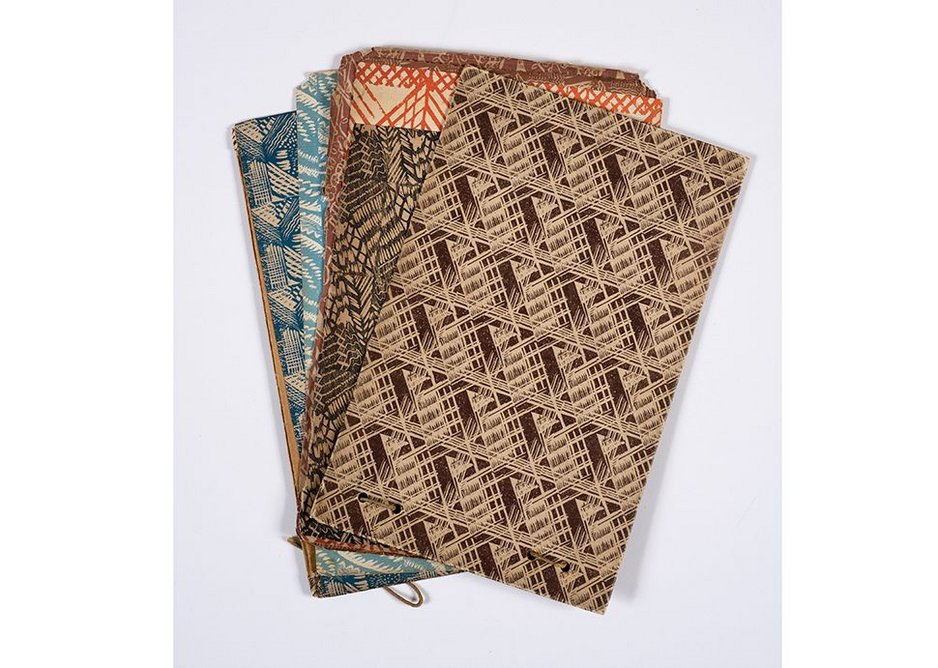 Pattern papers for Curwen Press 1928.