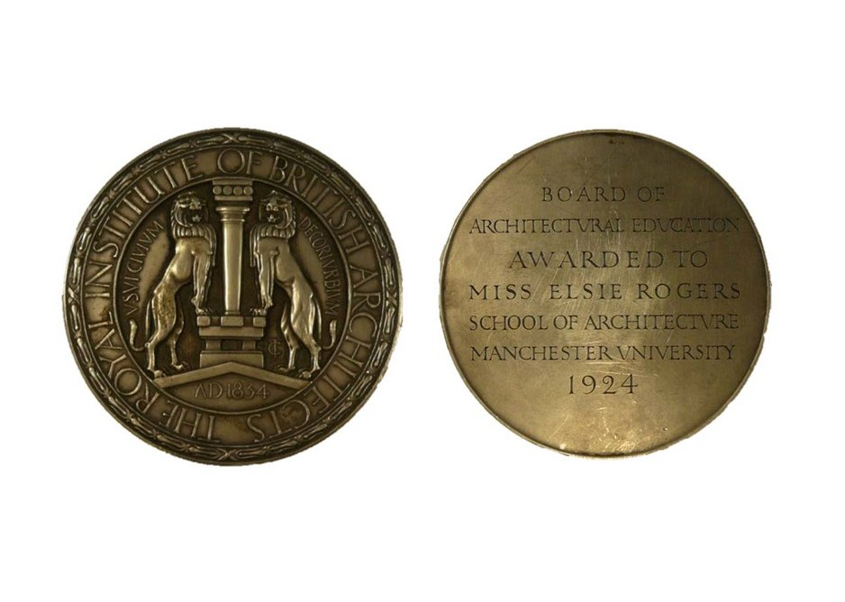 Uniface Silver Medal. Designed by Cecil Thomas, 1921. Awarded to Elsie Rogers in 1924.