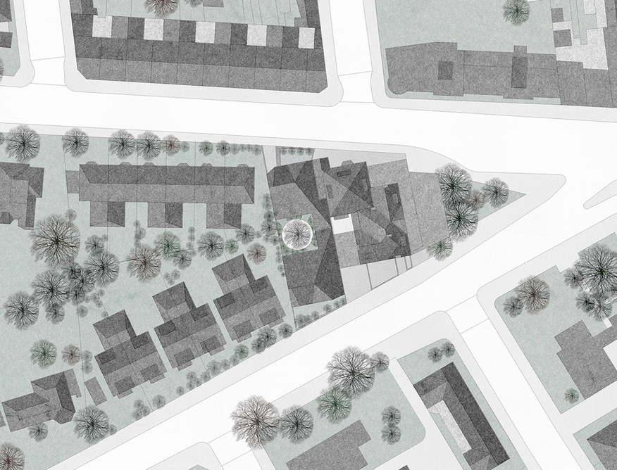 Location plan. The plot extends between West Hill and Upper Richmond Road to the north.