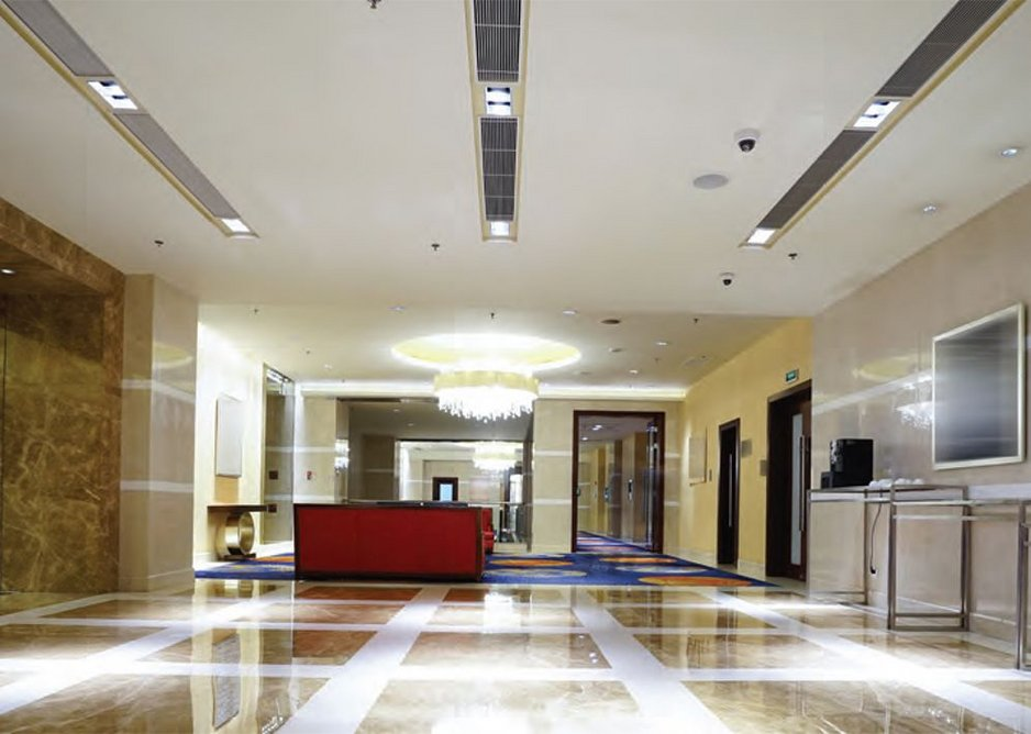 Acoustic plaster: Acoustic ceiling commercial application