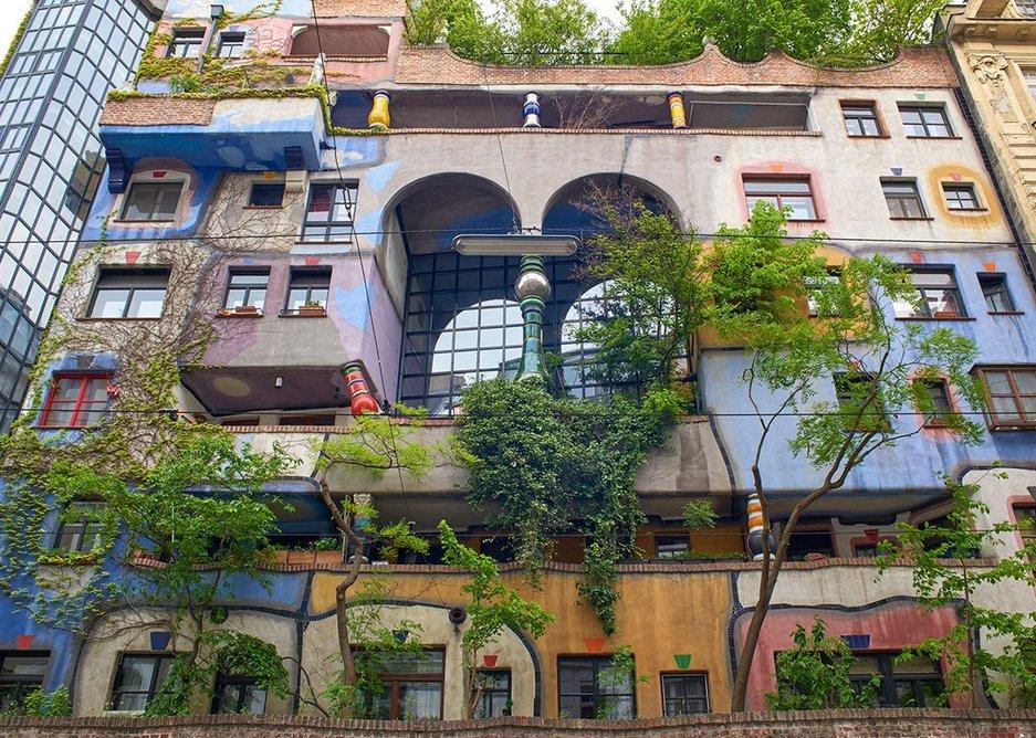 Hundertwasserhaus, Vienna, 1983–85, designed by Friedensreich Hundertwasser.