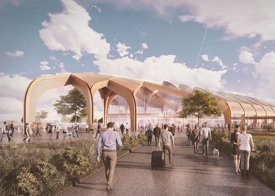 HS2's Interchange Station may be a hub for new development as it seeks to serve Solihull, the West Midlands, Birmingham Airport and the NEC. Design by Arup.
