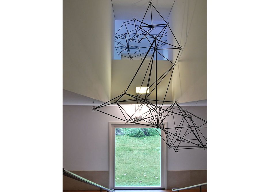 Installation image of Oskar Hansen – Open Form at Serralves in Porto, 2014, an earlier edition of the New York exhibition.