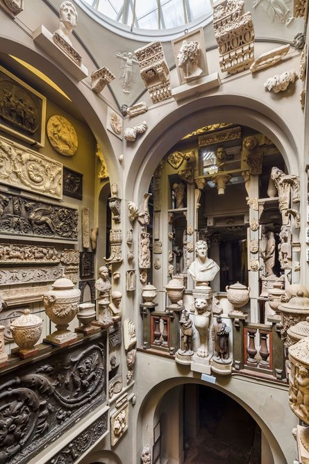 The dome area at Sir John Soane's Museum, where the practice has worked for 36 years. Photo: Gareth Gardner