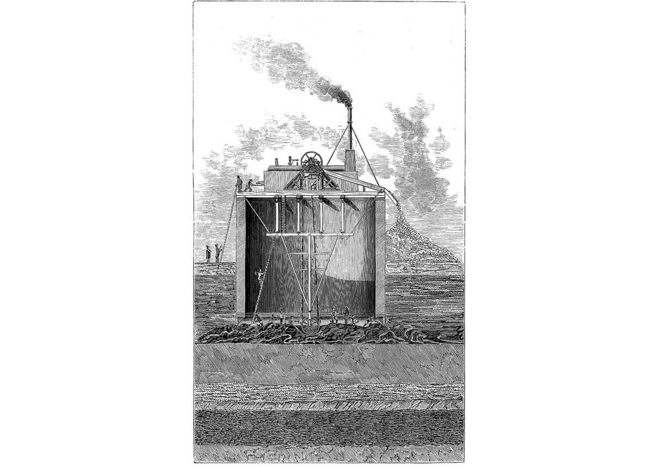 Those Brunels were certainly clever. Here's how they sank the ready-built shaft into the ground.