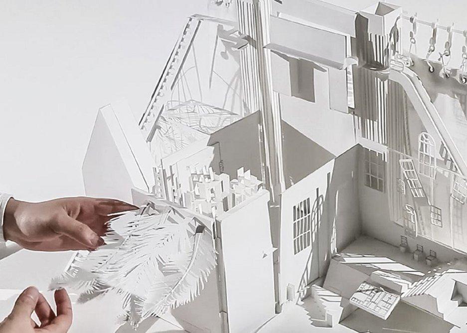 Demountable paper model exploring dollshouses.