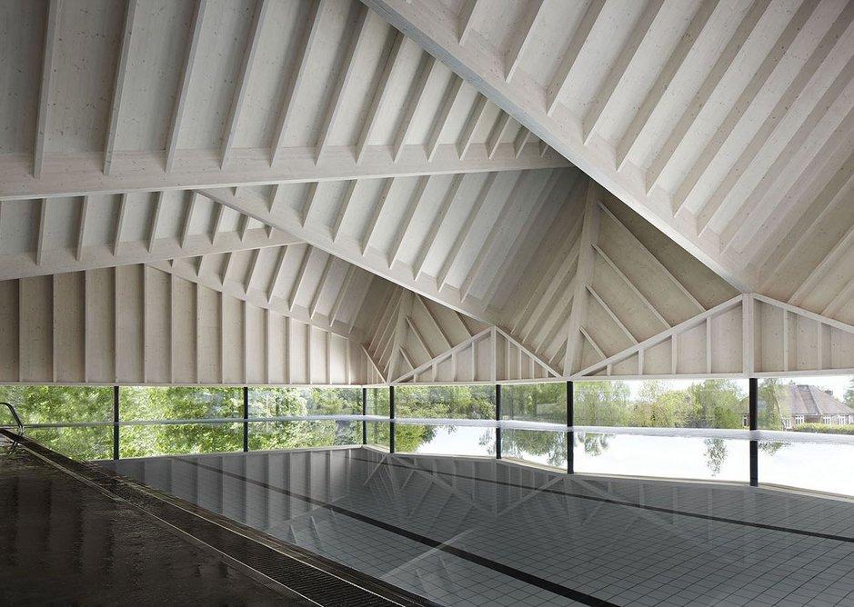 Alfriston School Swimming Pool by Duggan Morris Architects.