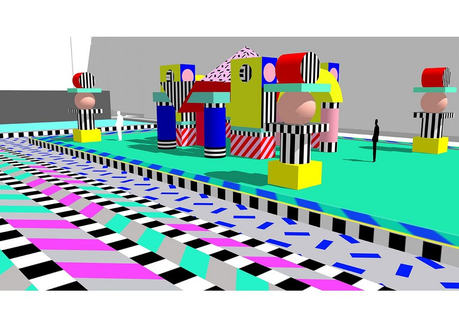 Render of Villa Walala. Designer Camille Walala hopes the installation will bring a smile to the faces of passers-by.