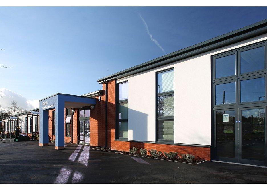 Senior's PURe windows at Carlyle Infant School, Derby.