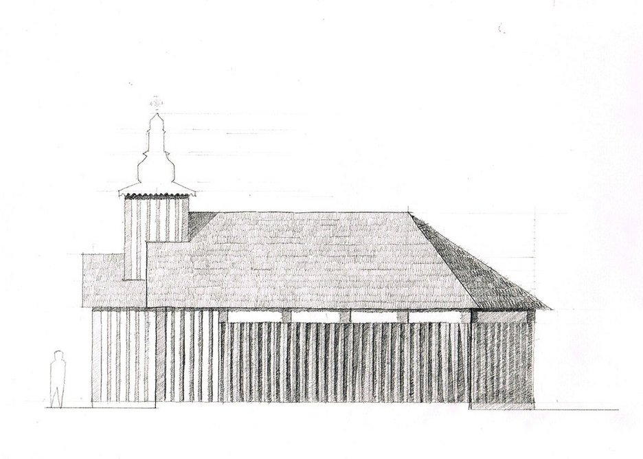 Spheron Architects's concept sketch for the new church now under construction in London