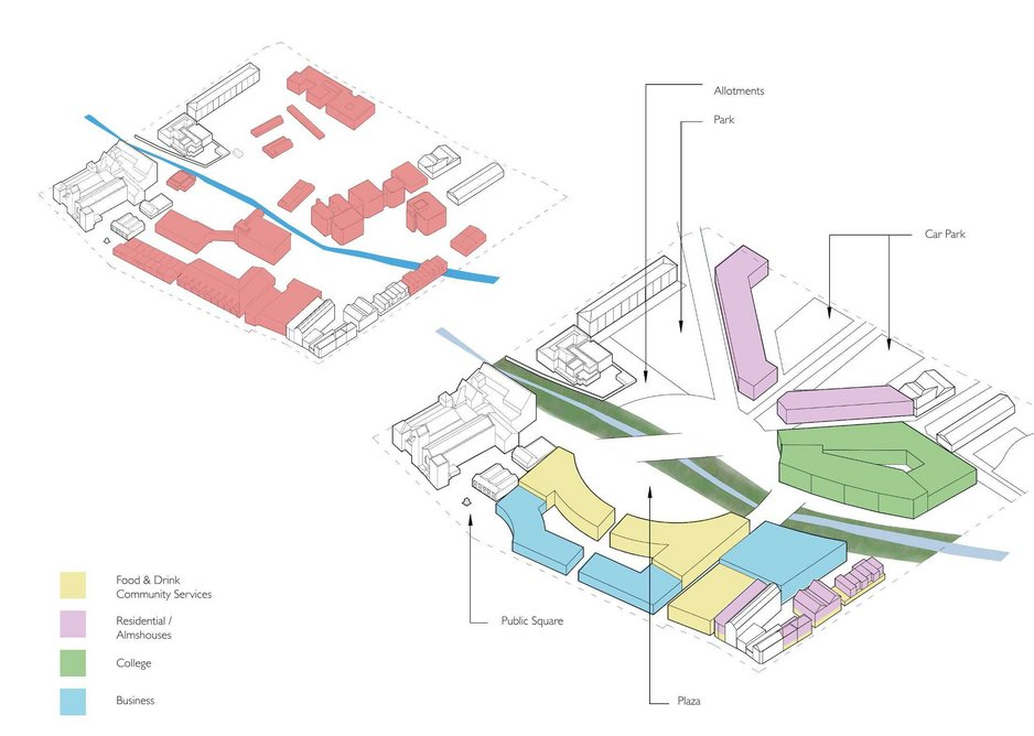 Purcell's masterplan for Dover mid-town.
