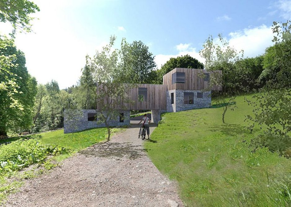 New house, Herefordshire, 2019, Kate Darby Architects.