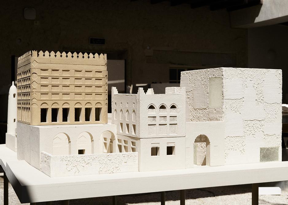 Model of new infill at Siyadi Pearl Museum.