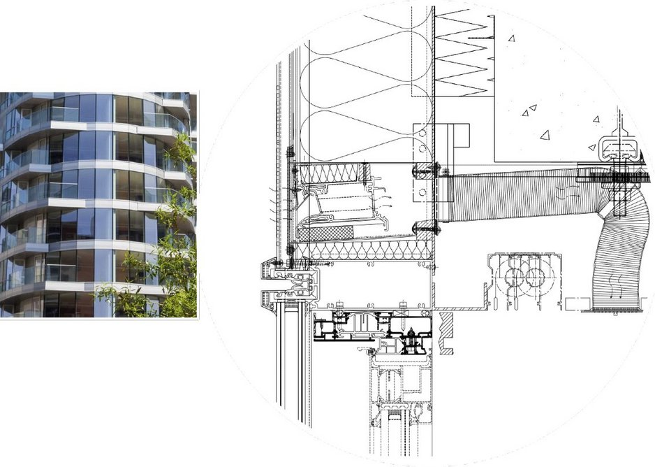 Renson Invisivent at Providence Tower: Hidden vent solutions work well in unitised and curtain wall buildings.