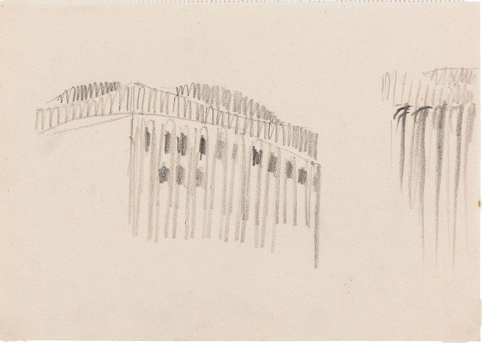 Hans Poelzig, sketch for the Grosses Schauspielhaus, Berlin, 1919