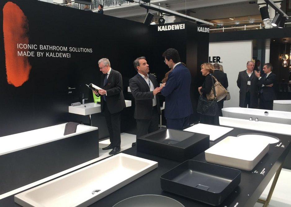 Kaldewei at Sleep 2017: this year the company has a Material Experience designed to test the resilience of its steel enamel.