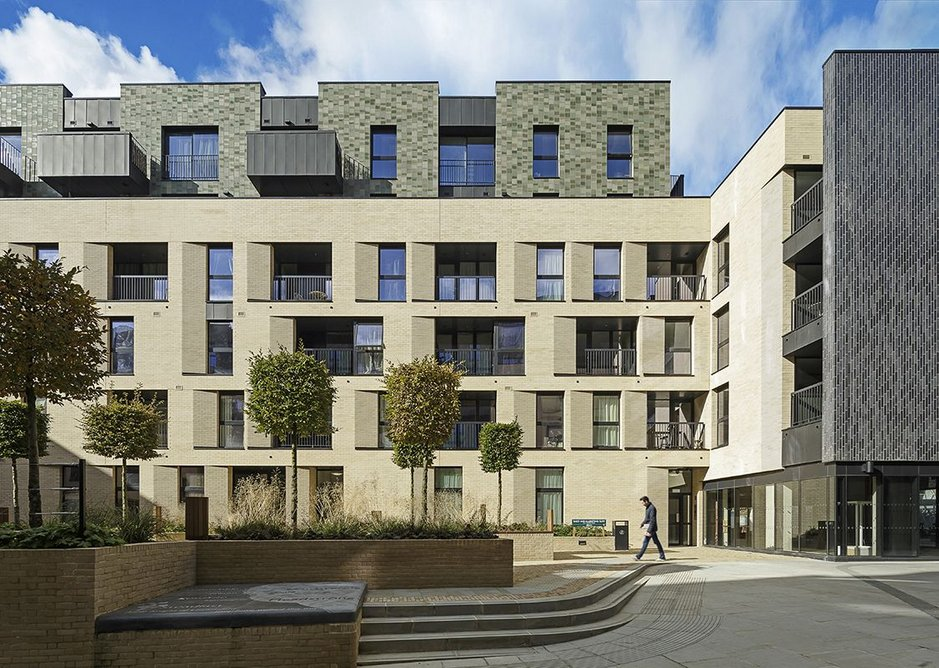 The cladding moves through different textures and colour palettes to create different intimacies across the site