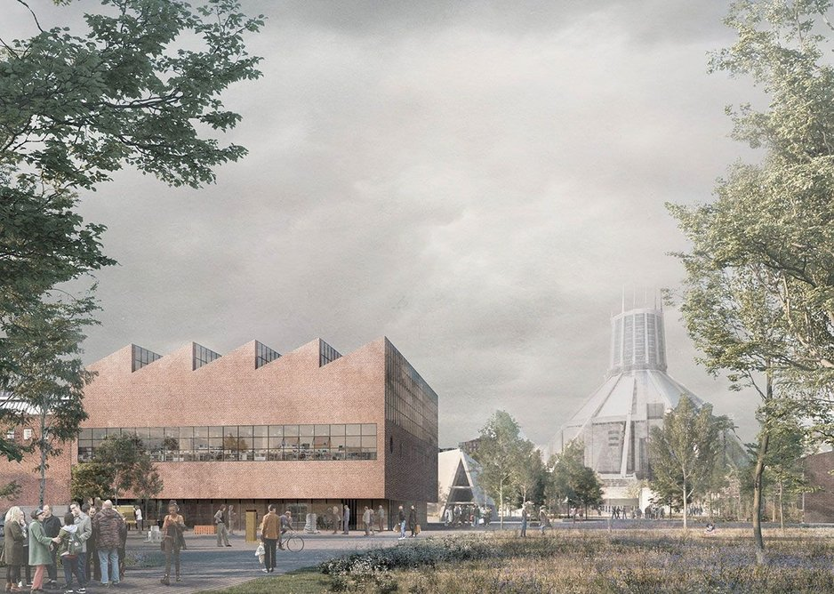 Carmody Groarke's proposal for Liverpool's new building.