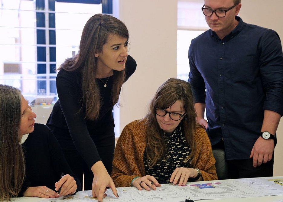Design team meeting.