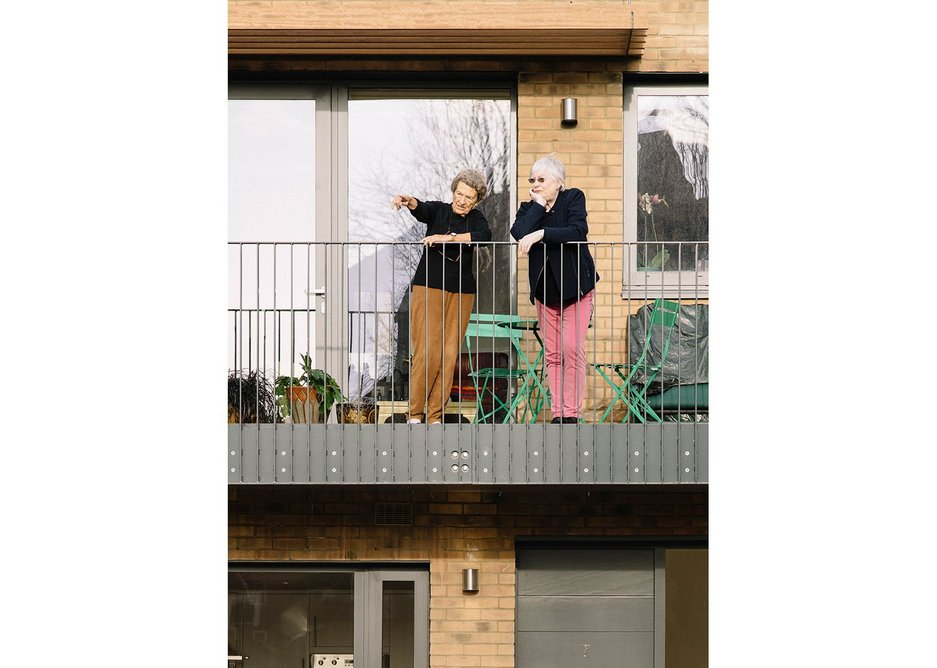 Balconies overlooking the central space add to the sense of community.
