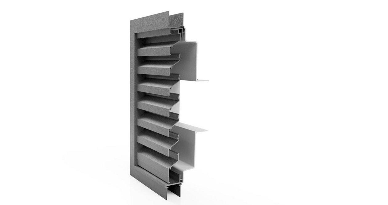 Renson 414 ventilation louvre with spigot.