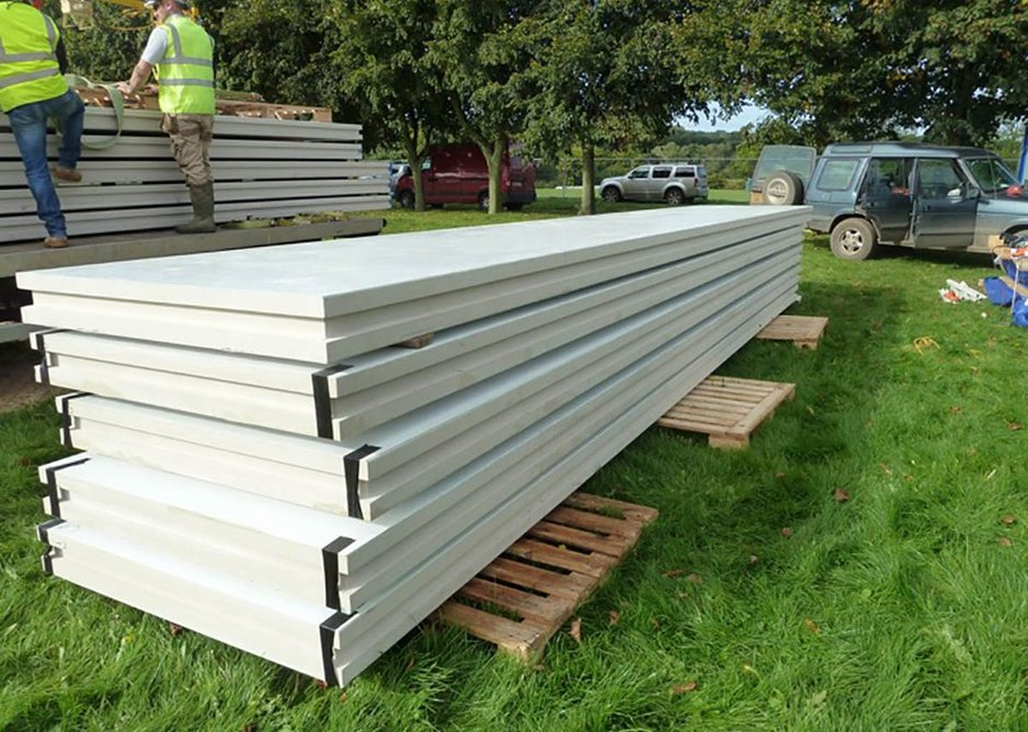 Tufeco panels are delivered flat-packed and typically require no more than three workers on site.
