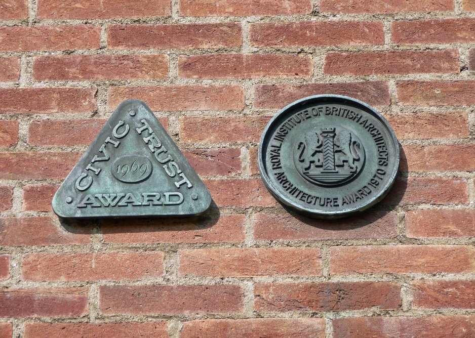 Never mind the poetry prizes, check out Larkin's architecture awards plaques.