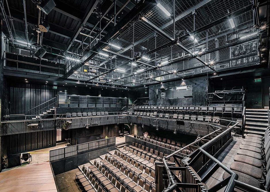 In the 200-seat theatre, acoustic separation was achieved with the use of a separate steel frame to the main concrete structure.