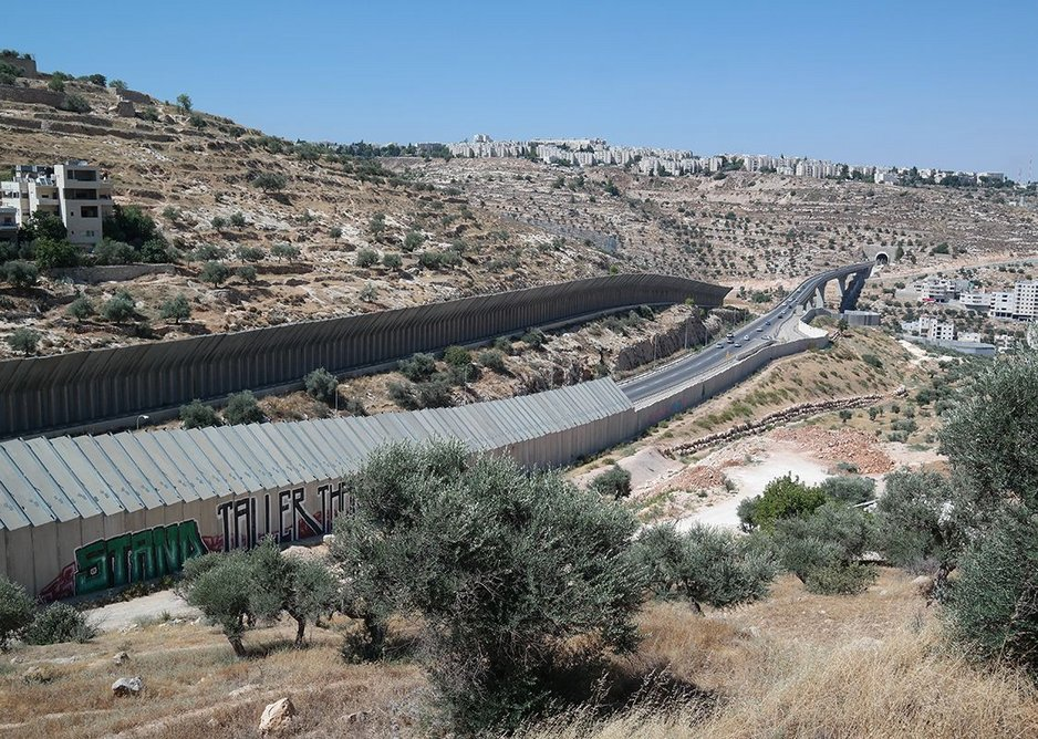 The wall continues its march across the Cremisan Valley outside Bethlehem.