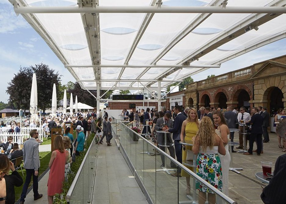 A new rain canopy has been added to improve the visitor experience.