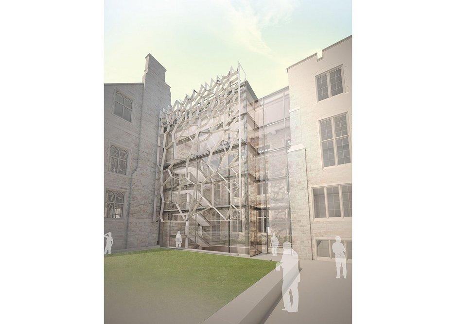 Wilkinson Eyre's Fry building for Bristol University's School  of Mathematics.