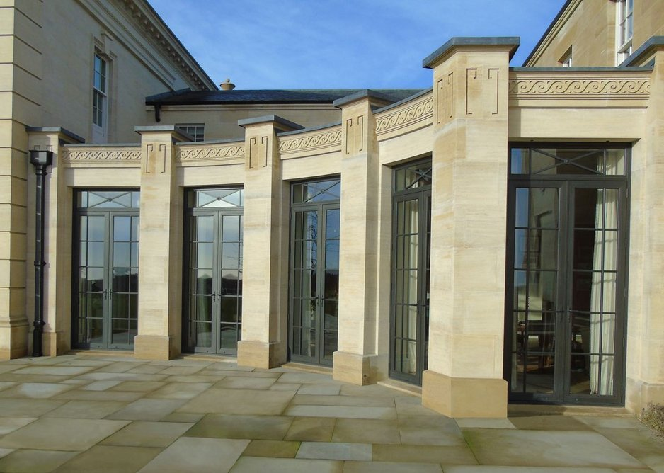 Classical design bronze doors by Architectural Bronze Casements at a property in Gloucester. Yiangou Architects.