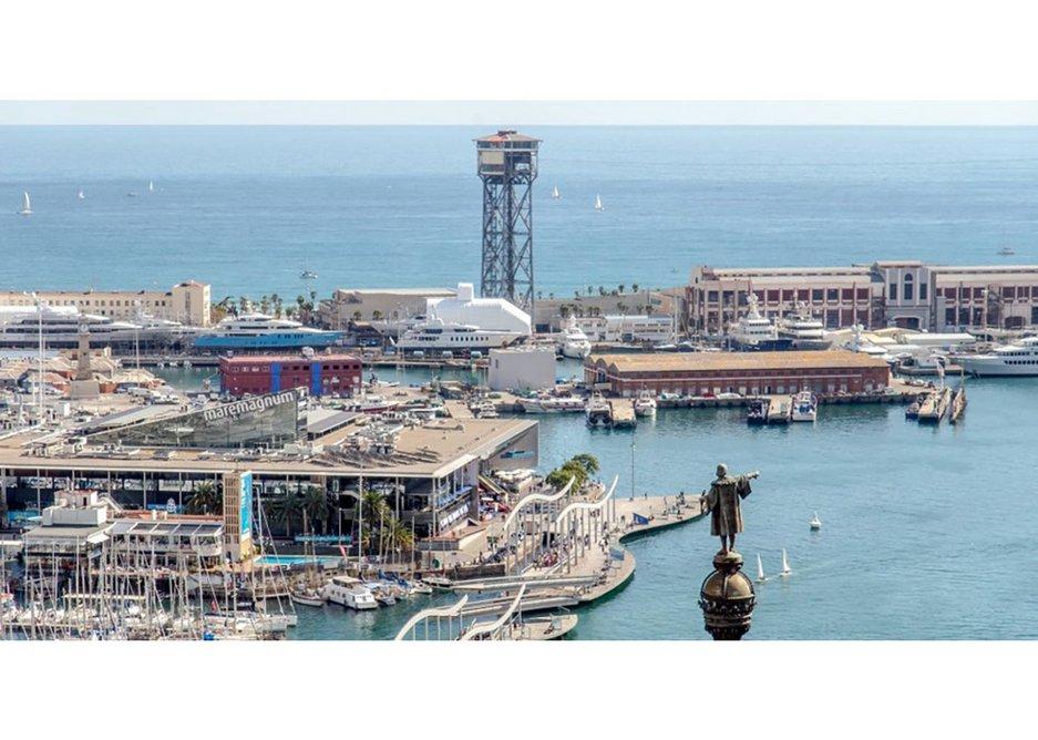 Fantastic sea views from the Marea Alta restaurant in Barcelona.