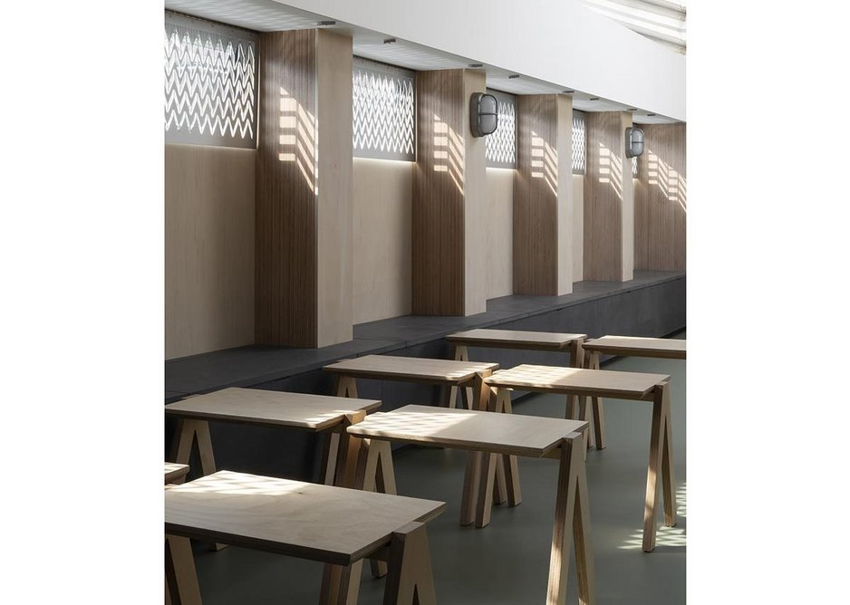 Custom-designed seating created by Plyco.