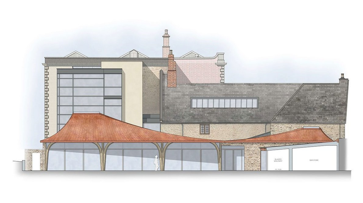 A new courtyard will be created at Sherbourne House.