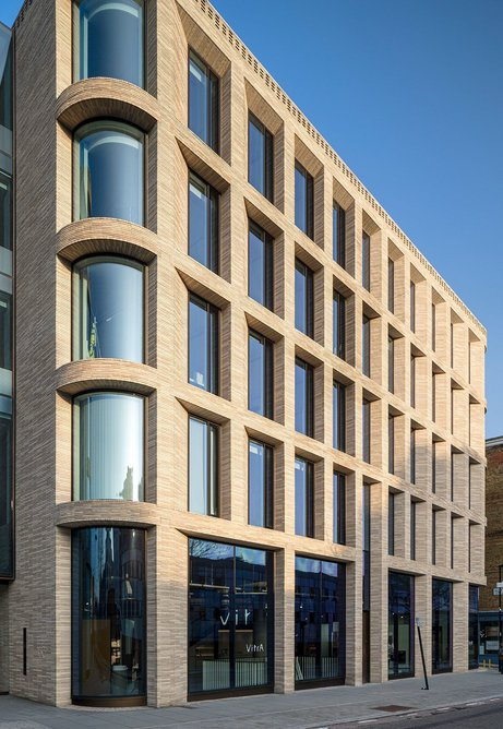 Piercy & Company's Turnmill building for Derwent London with its outstanding handmade brick facade.