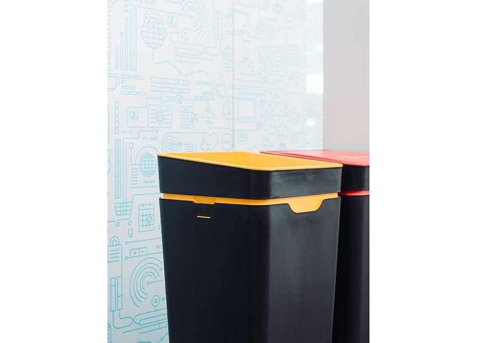 Method recycling bins at accounting software firm Xero's offices in Wellington, New Zealand.