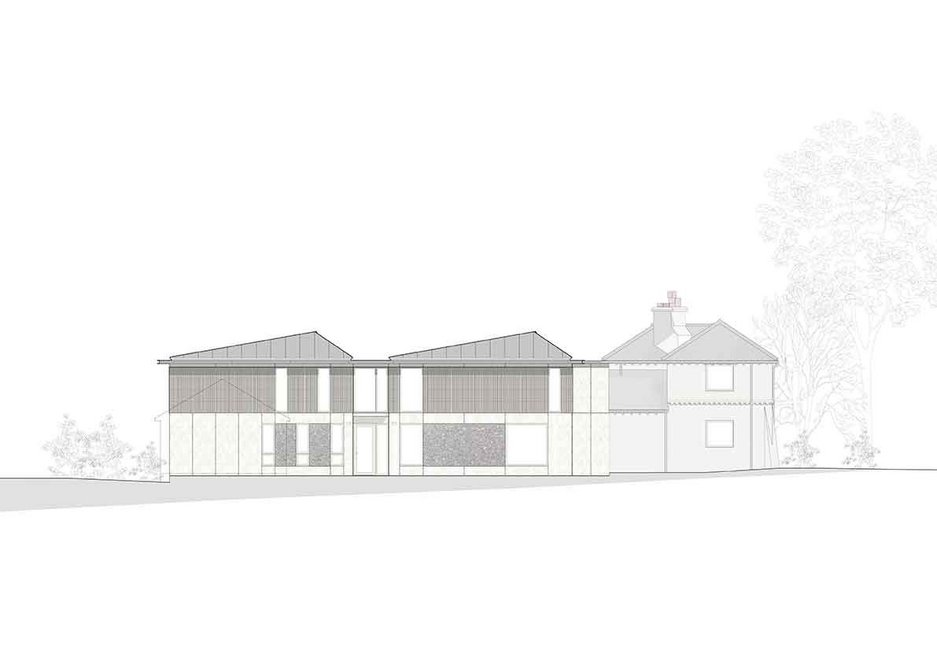 Front elevation of Cherry Tree House, designed by Guttfield Architecture.