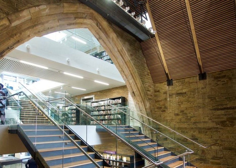 The Piece Hall and Calderdale Central Library.