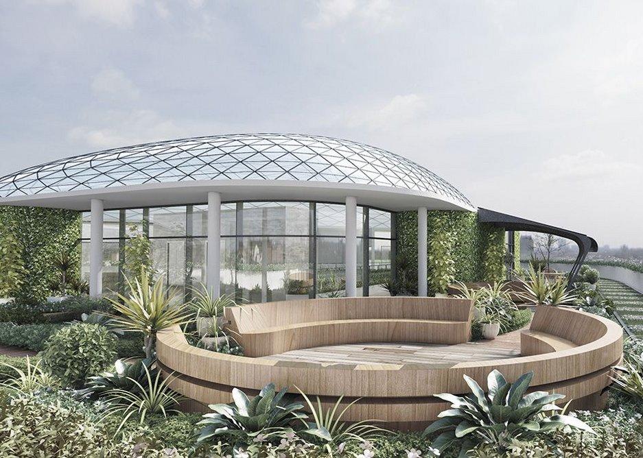The Beacon roof garden.