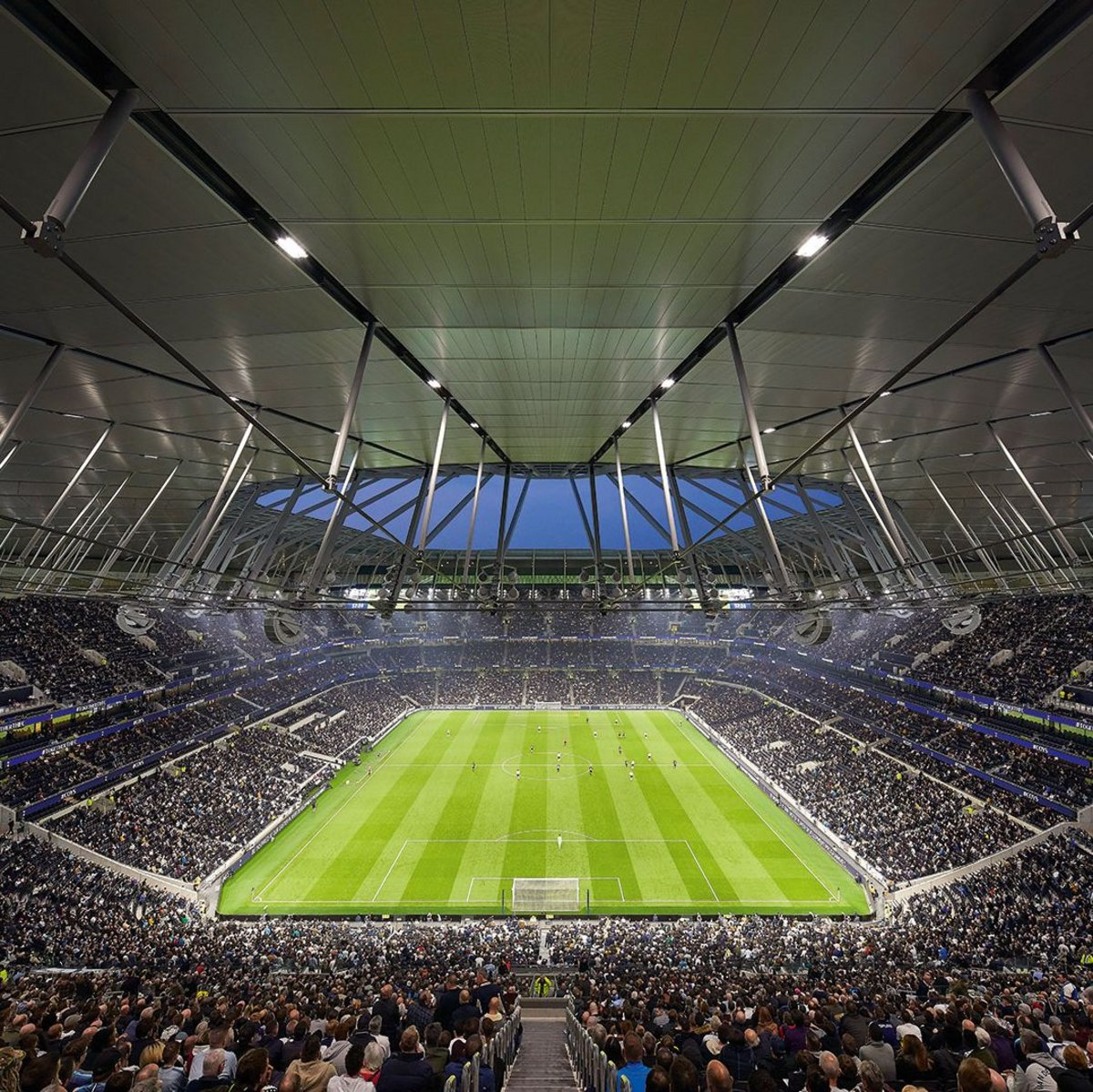 Review Of The New Roof At Spurs Fc London Stadium Tottenham Ribaj