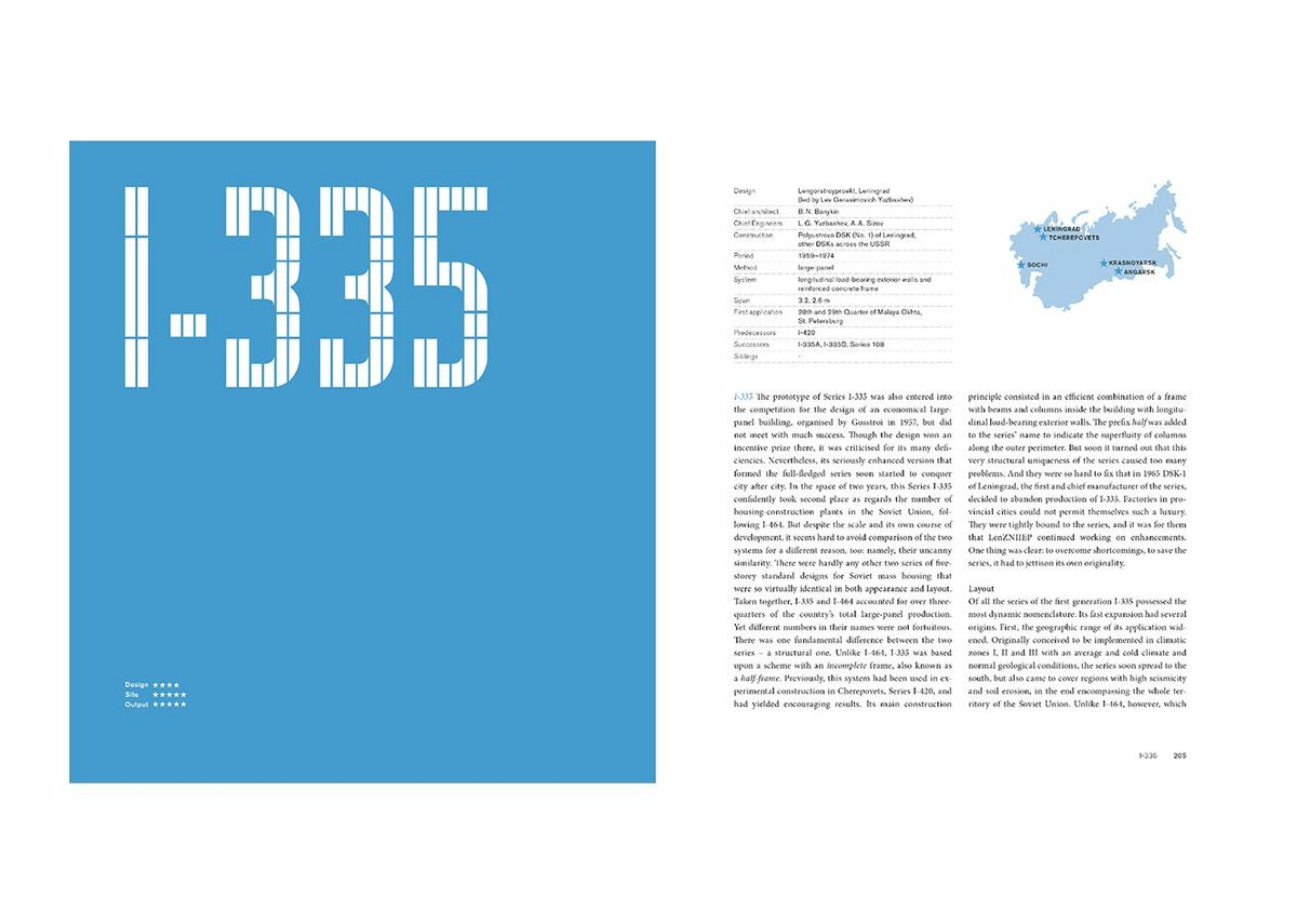 Spread from the book, which analyses 25 systems in terms of location, design, layout, construction and form.