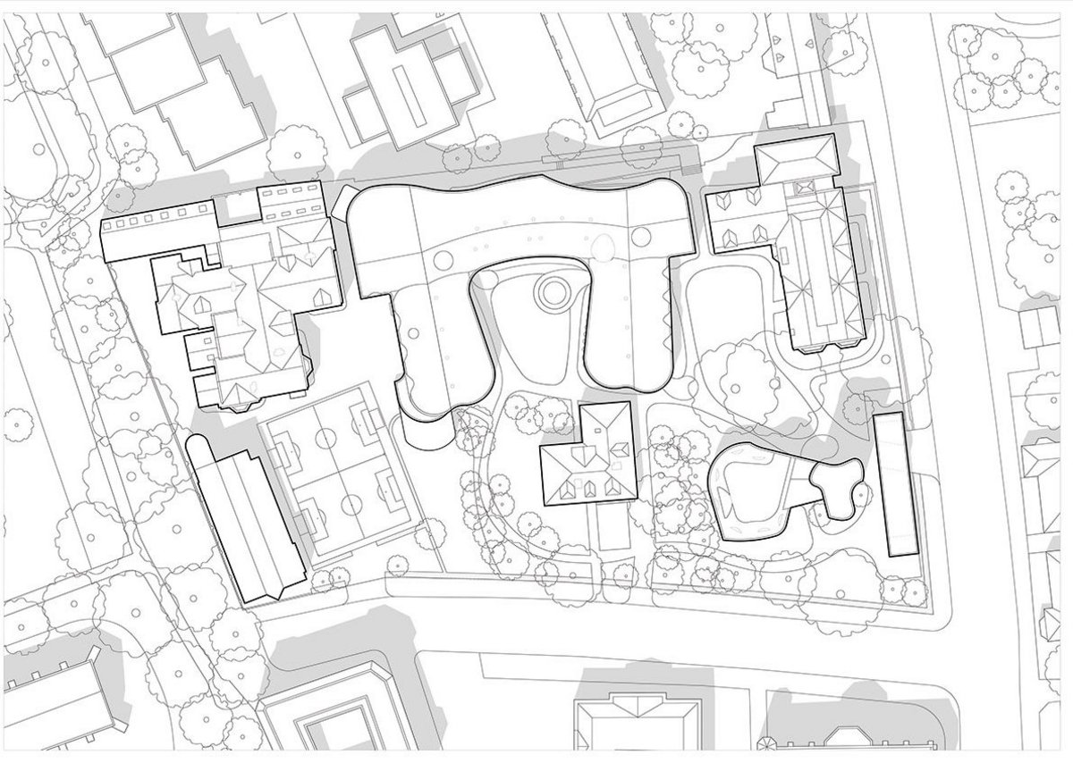 Site plan for New College Oxford, by David Kohn Architects.