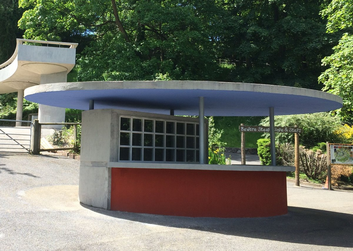 The entrance kiosk at Dudley Zoo